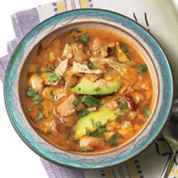 Lime chicken chipotle soup