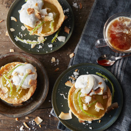 Lime Curd Mini Pies With Toasted Marshmallow-Coconut Cream
