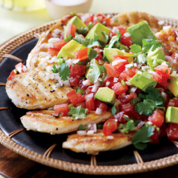 Lime-Grilled Chicken Breasts with Avocado Salsa