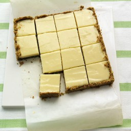 Lime Squares with Pistachio Graham-Cracker Crust