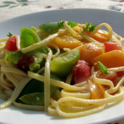 Linguine With Mixed Sweet Peppers (Olive Garden Copycat)