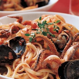 Linguine with Seafood Sauce