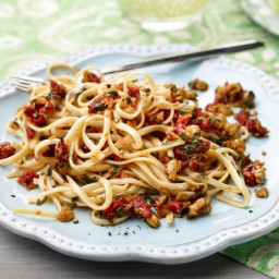 Linguine with Sun-Dried Tomatoes, Olives, and Lemon