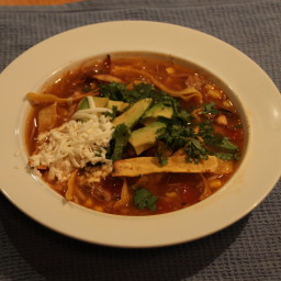 Lisa's Turkey (or Chicken) Tortilla Soup