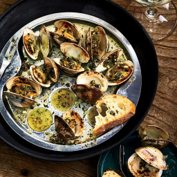 Littleneck Clams In the Style of Escargot