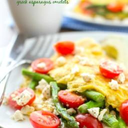 Loaded Greek Asparagus Omelettes