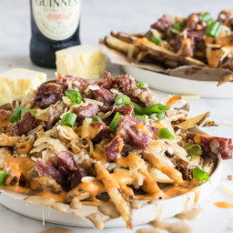 Loaded Leftover Corned Beef St Patrick's Day Fries