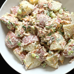 Loaded Potato Salad and Chipotle Ranch Dressing
