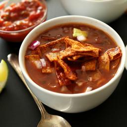 Loaded Veggie Nacho Soup