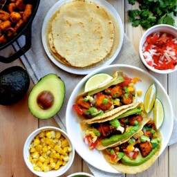 Loaded Crispy Tofu Tacos