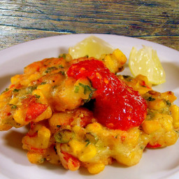 Lobster Fritters (Corn Cakes)