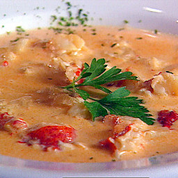 Lobster, Potato and Leek Chowder