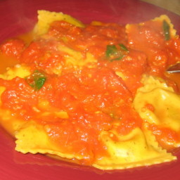 Lobster Ravioli With a Light Tomato Vodka Sauce