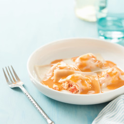 Lobster Ravioli with Lobster Butter Sauce