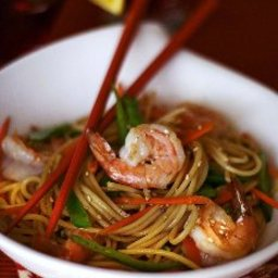 Long Life Fertility Noodles with Happy Shrimp