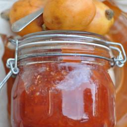 Loquat (naspli) jam with rosewater