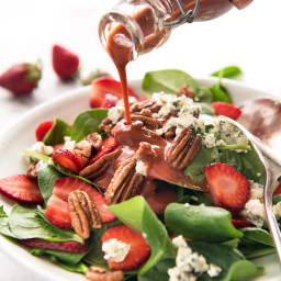 Louisiana Strawberry Spinach Salad with Strawberry Balsamic Dressing