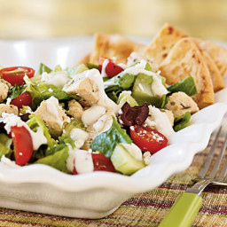 Low Calorie Greek Salad Recipe with Chicken