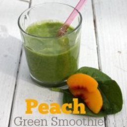 Low Calorie Peach Green Smoothie