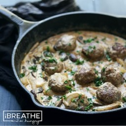 Low Carb Beef Stroganoff Meatballs Recipe