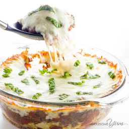 Low Carb Cauliflower Casserole with Beef Marinara (Gluten-free)
