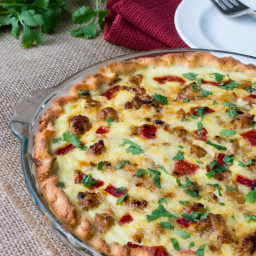 Low Carb Cheesy Italian Sausage Quiche