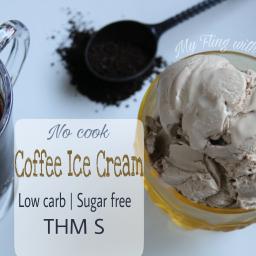 Low Carb Coffee Ice Cream (THM S)