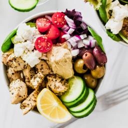 Low Carb Greek Chicken Bowls — Foodborne Wellness