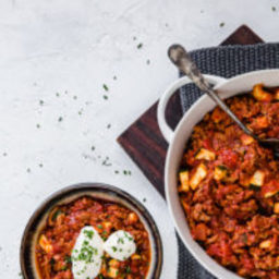 Low-carb ground turkey chili