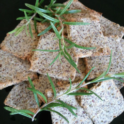 low carb keto rosemary crackers