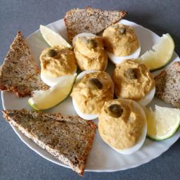 low carb keto stuffed eggs