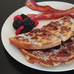 Low Carb Maple Waffle French Toast