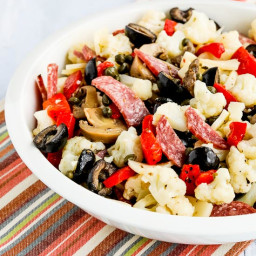 Low-Carb Marinated Cauliflower Antipasto Salad