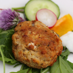 Low Carb Salmon and Lime Fishcakes With Zesty Yoghurt Dressing