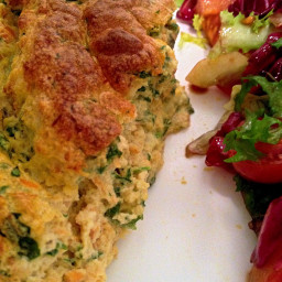 low carb salmon and watercress souffle
