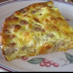 Low-carb Sausage, Egg and Cheese Casserole