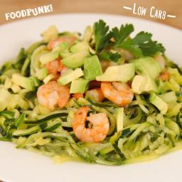 Low Carb Spaghetti mit Garnelen - Foodpunk