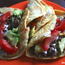 Low Carb Tortillas with Ground Beef