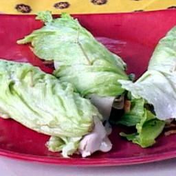 Low Carb Turkey and Swiss BLT Roll-Ups