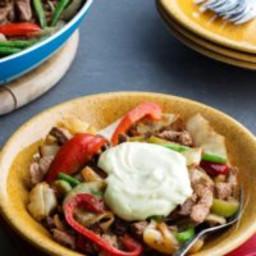 Low-carb turkey stir-fry with wasabi mayo
