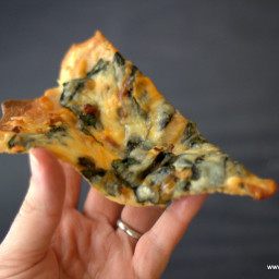 Low Carb White Spinach Pizza