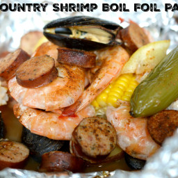Low Country Shrimp Boil Foil Packets