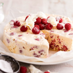 Low-fat berry and meringue ice-cream cake