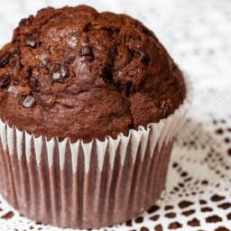 Low-Fat Dark Chocolate Muffins