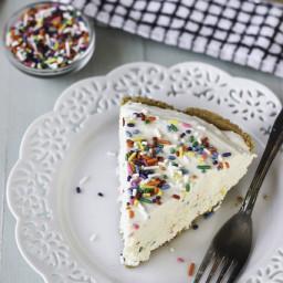 Low-Fat Funfetti Cheesecake Ice Cream Pie