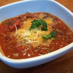 Low-Fat Healthy Chili in Crockpot
