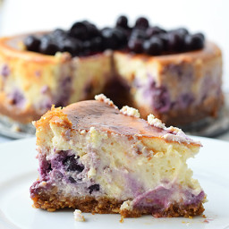 Low FODMAP blueberry cheesecake with lemon