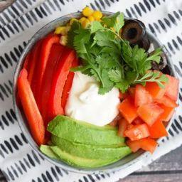 Low FODMAP Taco Bowl (Glutenvrij, lactosevrij, vegetarisch)