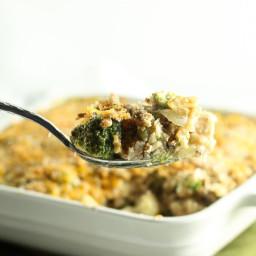 Low Sodium Cheesy Chicken, Broccoli, and Wild Rice Casserole