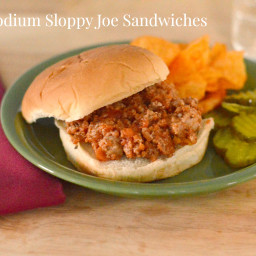 Low Sodium Sloppy Joe Sandwiches
